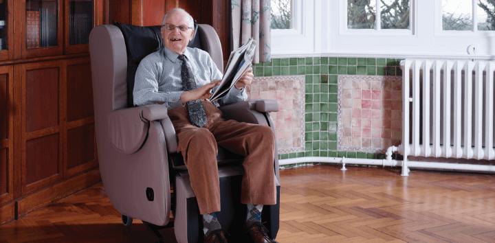 HydroTilt dad with newspaper